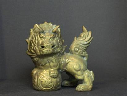 Pair of Lost Wax Fu Dogs
