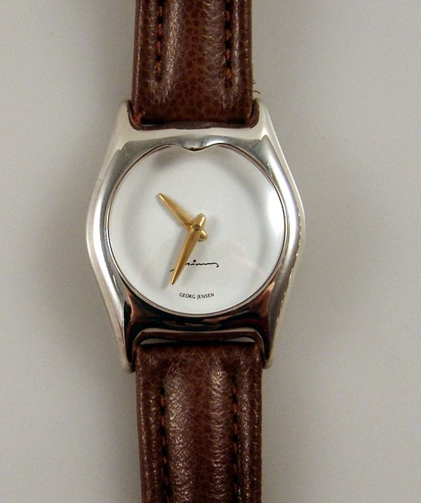 43: A Men's Georg Jensen Minas Wristwatch