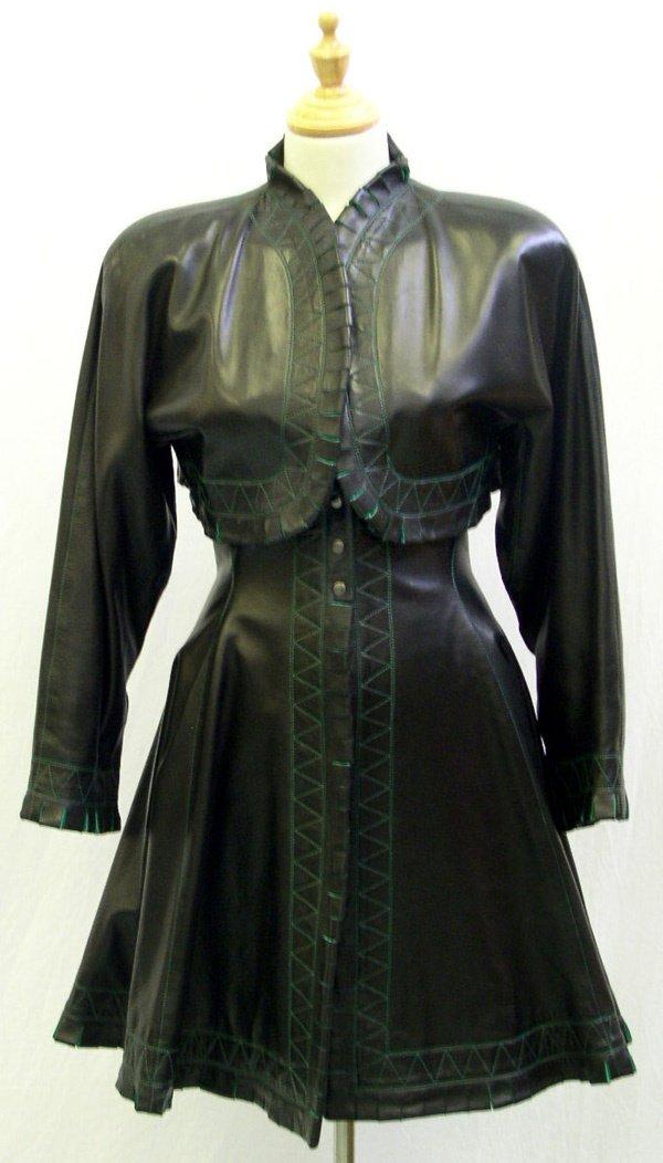 500: A Vintage Alaia Leather Coat