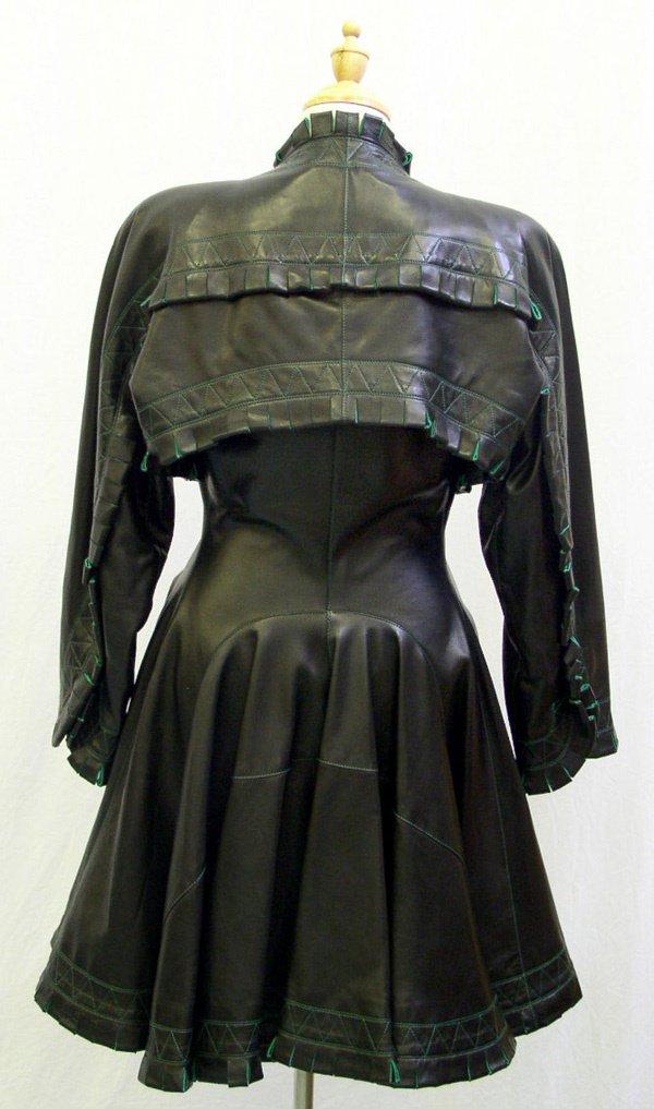 500: A Vintage Alaia Leather Coat - 2