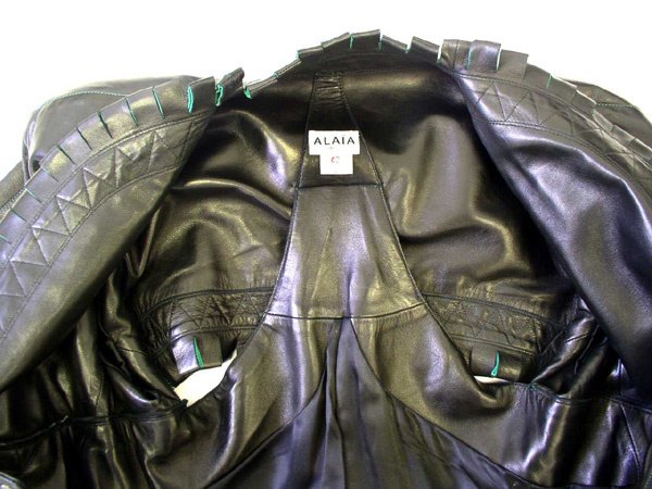 500: A Vintage Alaia Leather Coat - 7