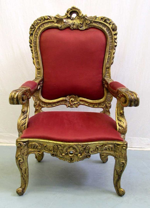 1010: A Large Spanish Throne Chair