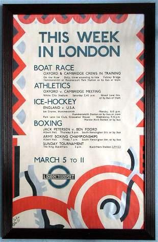 John Wall (20th Century) This Week in London