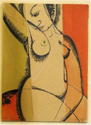 Unknown Artist (20th Century) A Nude Study