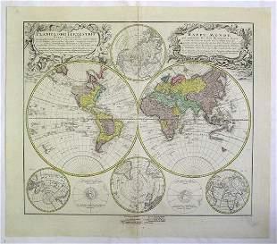 Homanns Heirs (18th-19th Century) A World Map