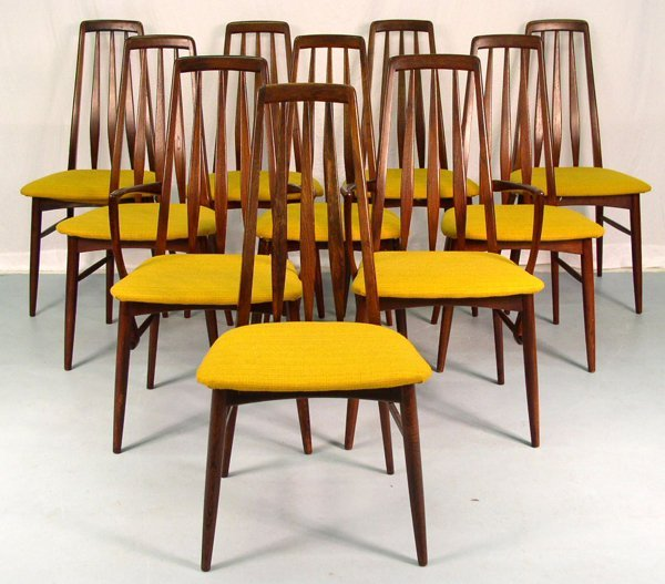 2015: Set of 8 Danish Dining Chairs