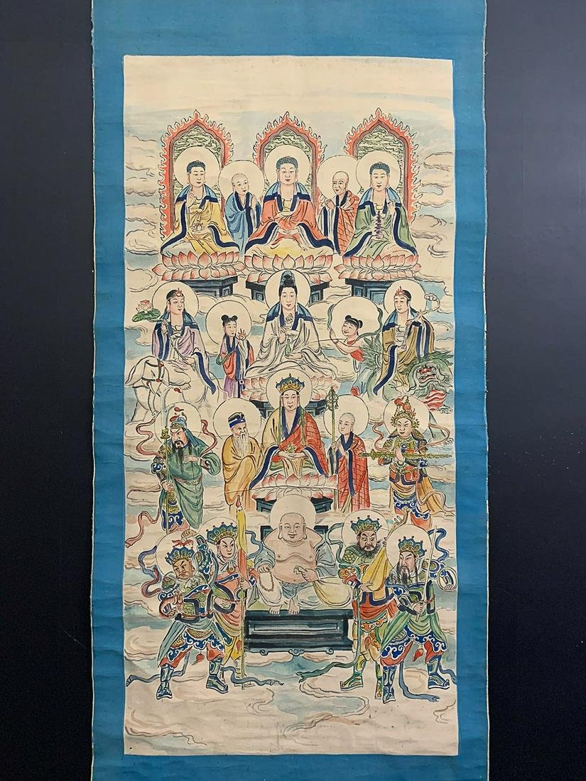 MING DYNASTY FIGURE OF BUDDHA PAINTING