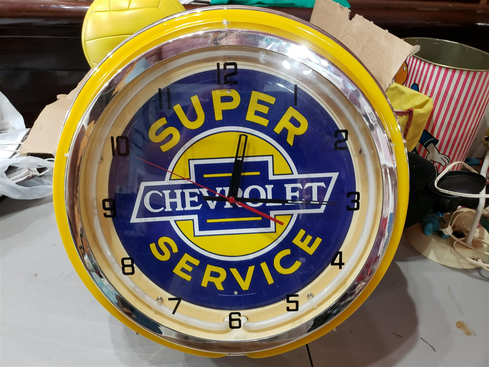 Chevrolet Super Service Lighted Clock not working
