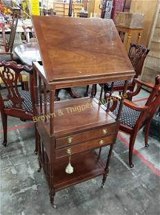 Lectern with 2 drawers by Baker Furniture