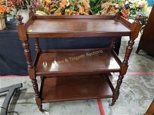 Wooden 3 Shelf Cart