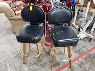 Pair of matching Black Bar Stools