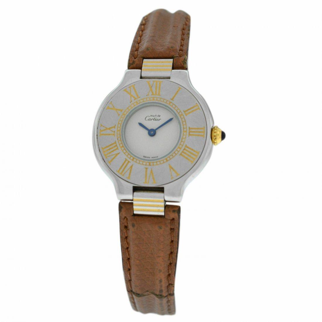 Cartier Must de Cartier 21 Quartz Steel Gold 28MM Watch