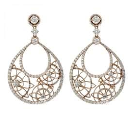 14K Gold 11.40 CT Diamond Earrings