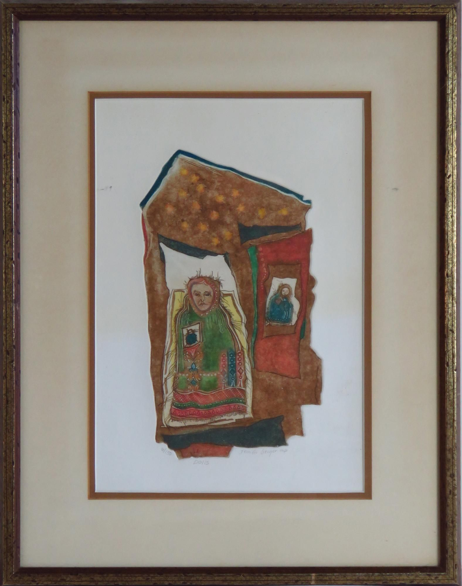 JENNIFER GEIGER ETCHING WITH  AQUATINT SIGNED