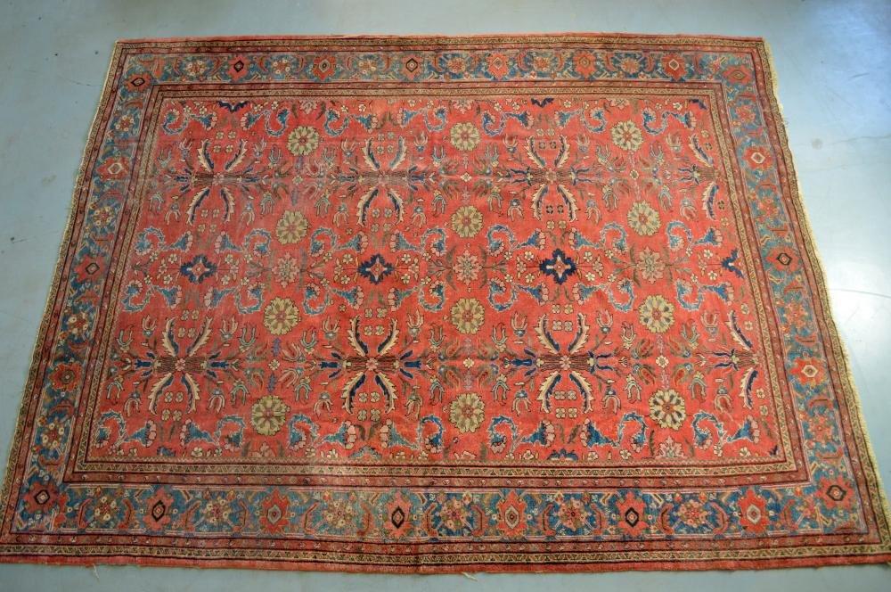 ANTIQUE PERSIAN MAHAL CARPET ROOM SIZE