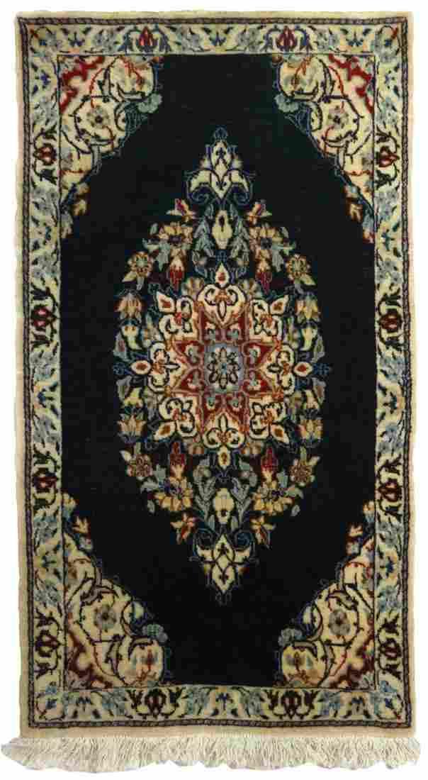 FINE KASHAN PERSIAN SMALL VINTAGE CARPET / RUG