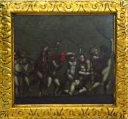 17/18TH C ITALIAN OLD MASTER ALLEGORICAL PAINTING