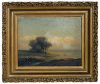 HUDSON RIVER SCHOOL WATER VIEW LANDSCAPE PAINTING