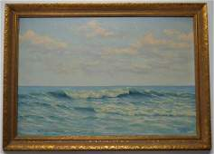 WALTER ANDREWS SEASCAPE W BREAKING WAVES & CLOUDS