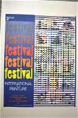 YAACOV AGAM SIGNED SERIGRAPH EXHIBITION POSTER