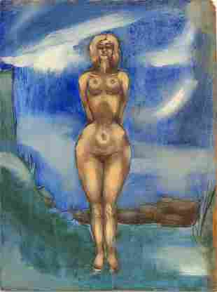 MODERN NUDE PAINTING OF A WOMAN