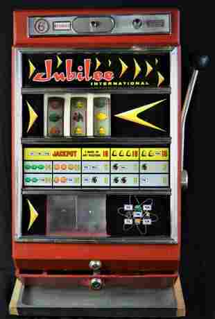 ANTIQUE / VINTAGE C.1966 JUBILEE SLOT MACHINE