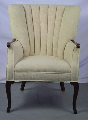 MID CENTURY CHANNEL BACK LOUNGE CHAIR