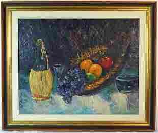 MID CENTURY STILL LIFE PAINTING SIGNED