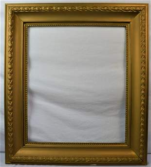 ANTIQUE PAINTING FRAME COVE GOLD TONE