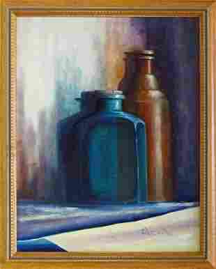 MODERN STILL LIFE PAINTING SIGNED