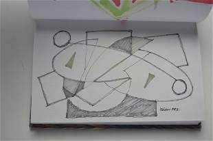 ABSTRACT PAINTINGS / DRAWINGS SKETCH BOOK SIGNED