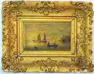 OLD MASTER MARITIME PAINTING IN FINE ANTIQUE FRAME