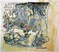 PEMBERTON 4 HOMOEROTIC FOLK ART DRAWINGS