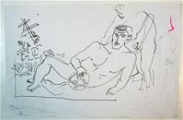 PEMBERTON LOT HOMOEROTIC FOLK ART DRAWINGS