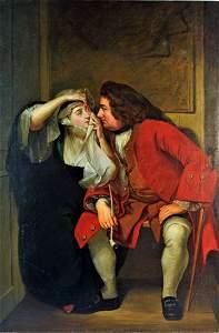 C. 1850 FINE AMERICAN SCHOOL ROMANTIC PAINTING