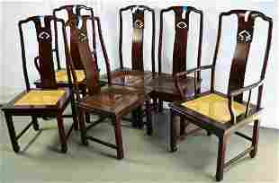 6 HENREDON DINING CHAIRS 2 ARM 4 SIDE