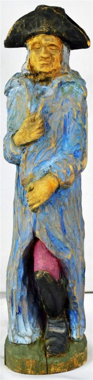 CARVED POLYCHROME FOLK ART GEORGE WASHINGTON