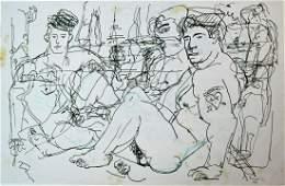 PEMBERTON HOMOEROTIC FOLK ART DRAWINGS