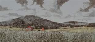 GERALD LUBECK (NJ/VT 1942-2019) LITHOGRAPH SIGNED