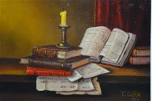 OLD MASTER STYLE STILL LIFE PAINTING SIGNED