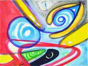 ABSTRACT OUTSIDER ART PAINTING