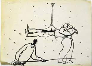 DANIEL FOURNEAU B. 1953 LOT 3 SKETCHES SIGNED