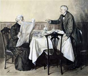 WILLIAM THOMAS SMEDLEY 1858-1920 PAINTING SIGNED