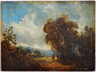 JOHN CONSTABLE (CIRCLE) LANDSCAPE PAINTING SIGNED