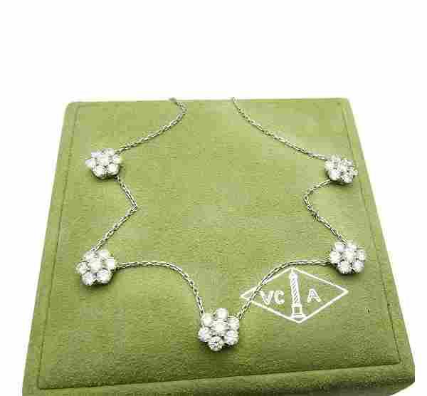 Van Cleef & Arpels 18k 5 Fleurette Diamond Necklace