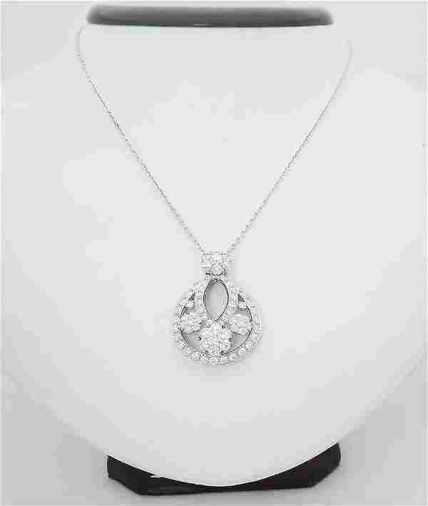 Van Cleef & Arpels 18k Fleurette Diamond Pendant
