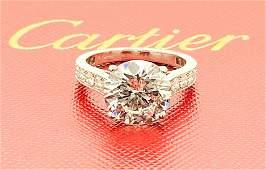CARTIER 950 4.01ct CENTER DIAMOND ENGAGEMENT RING GIA