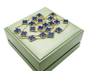 Van Cleef & Arpels 18K Alhambra 20 Motifs Lapis
