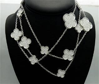 Van Cleef & Arpels 18K White Gold Diamond Magic