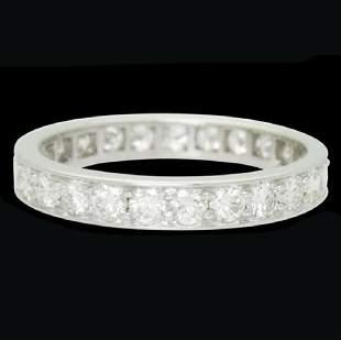 Cartier Estate Platinum 1.25ct Eternity Band Ring